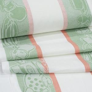 Полулен полотенечный 50 см Жаккард 4216/4 цвет зеленый