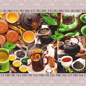 Полотно вафельное 50 см набивное арт 60 Тейково рис 5606 вид 1 Чайная церемония