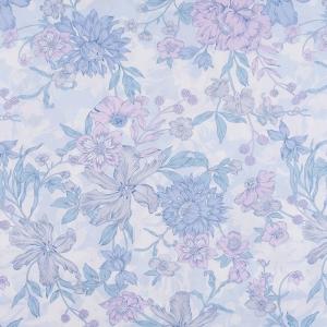 Ткань на отрез бязь ГОСТ Шуя 150 см 9913/2 Цветы голубые