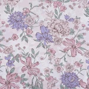Ткань на отрез бязь ГОСТ Шуя 150 см 9913/1 Цветы розовый