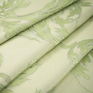 Портьерная ткань с люрексом 150 см на отрез Х7187 цвет салатовый вензель