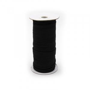 Резинка шляпная 2мм черная 1 метр