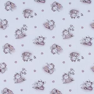 Ткань на отрез ситец 95 см 9019/1 Пушистые котята