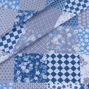 Ткань на отрез бязь ГОСТ Шуя 220 см 9890/1 Пэчворк цвет синий