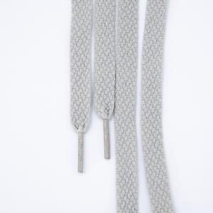 Шнур плоский серый 120см уп 2 шт
