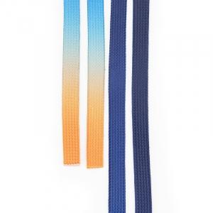 Шнур плоский сине-оранжевый уп 2 шт