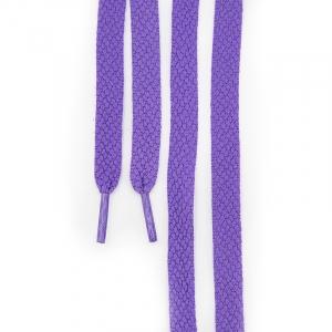 Шнур плоский фиолетовый 120см уп 2 шт