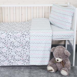 Постельное белье в детскую кроватку из перкаля 13178/1 + 13166/1
