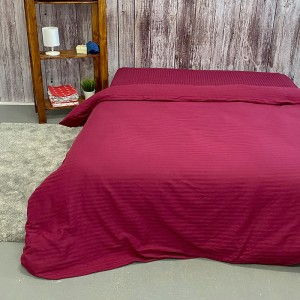 Пододеяльник из страйп-сатина полоса 1х1 120 гр/м2 084/2 цвет бордовый, 2-x спальный