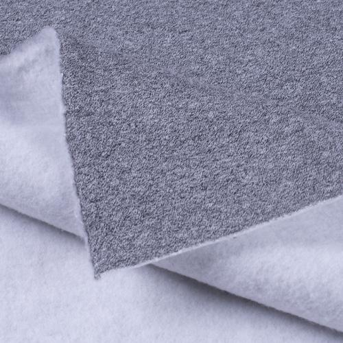 Ткань на отрез футер 3-х нитка компакт пенье меланж цвет серый
