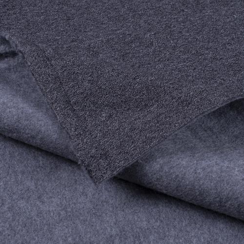 Ткань на отрез футер 3-х нитка компакт пенье меланж цвет черный