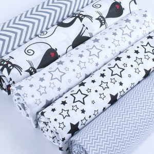Набор отрезов ткани Поплин 50/50 +/- 5 см 5 шт 325