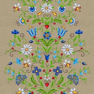 Дорожка 50 см набивная арт 61 Тейково рис 30162 вид 1 Цветочный лен