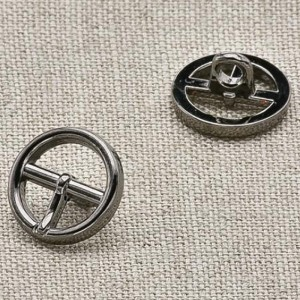 Пуговица металл ПМ22 10мм черный никель пряжка уп 12 шт