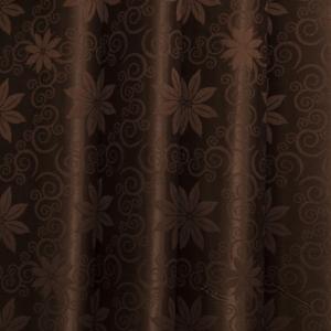 Портьерная ткань 150 см на отрез 9 цвет шоколад цветок
