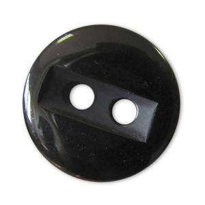Пуговицы Блузочные 2 прокола 15 мм цвет 729 черный упаковка 24 шт
