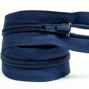 Молния спиральная разъёмная 50см; цвет: 330-темно-синий