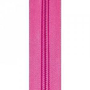 Молния спиральная разъёмная 75см; цвет: 141 - ярко-розовый