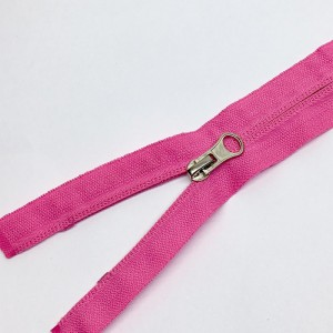 Молния спираль №5 реверс 45см №515 розовый