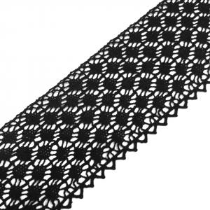 Кружево лен 2204 Черный 6 см уп 10 м