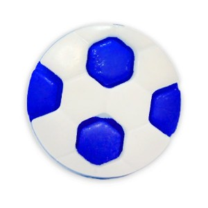 Пуговица детская сборная Мяч 16 мм цвет васильковый упаковка 24 шт