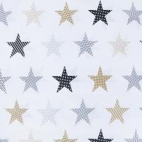 Ткань на отрез бязь плательная 150 см 8104/2 Звезды пэчворк цвет бежевый
