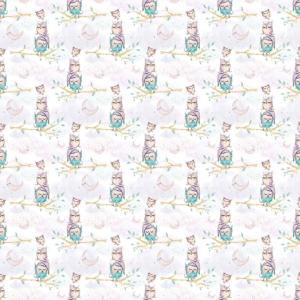 Ткань на отрез перкаль 150 см 13233/1 Owls Модель 5