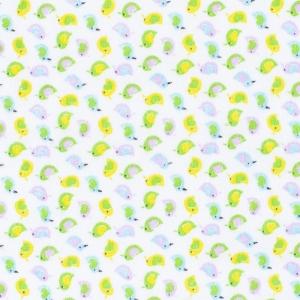 Ткань на отрез фланель 90 см 95031 Птички