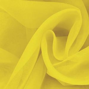 Ткань на отрез Вуаль 280 см цвет 30 желтый