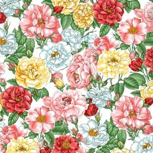 Полотно вафельное 50 см набивное арт 60 Тейково рис 29028 вид 1 Дикая роза