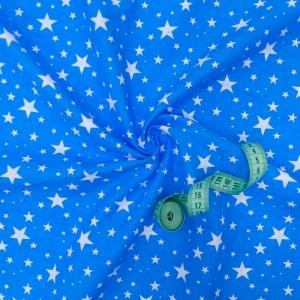 Ткань на отрез бязь плательная 150 см 1556/18 цвет синий