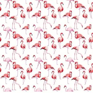 Перкаль 150 см набивной арт 140 Тейково рис 13283 вид 1 Фламинго