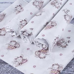 Набор детских пеленок ситец 4 шт 90/120 см 9019/1 Пушистые котята