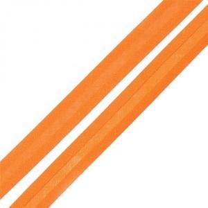 Косая бейка хлопок ширина 15 мм (132 м) цвет 7023 оранжевый