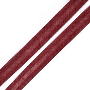 Косая бейка хлопок ширина 15 мм (132 м) цвет 7031 коричнево-красный
