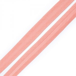 Косая бейка хлопок ширина 15 мм (132 м) цвет 7041 розово-персиковый