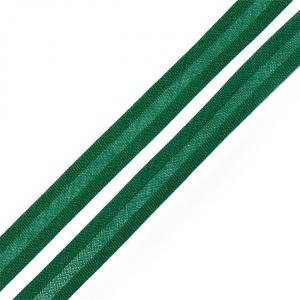 Косая бейка хлопок ширина 15 мм (132 м) цвет 7059 насыщенный зеленый