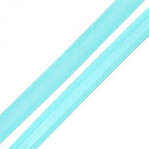 Косая бейка хлопок ширина 15 мм (132 м) цвет 7077 яр-голубой