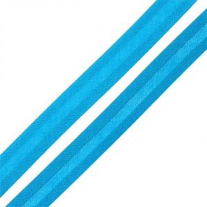 Косая бейка хлопок ширина 15 мм (132 м) цвет 7081 св-синий