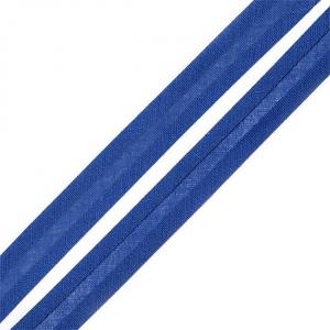 Косая бейка хлопок ширина 15 мм (132 м) цвет 7087 синий