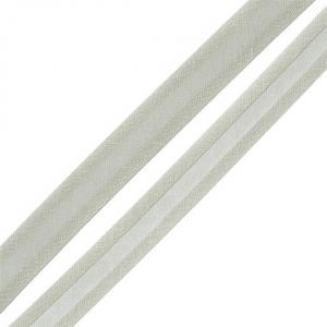 Косая бейка хлопок ширина 15 мм (132 м) цвет 7093 св-серый