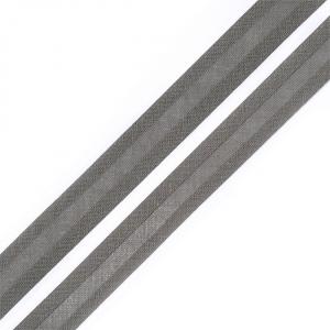 Косая бейка хлопок ширина 15 мм (132 м) цвет 7096 т серый