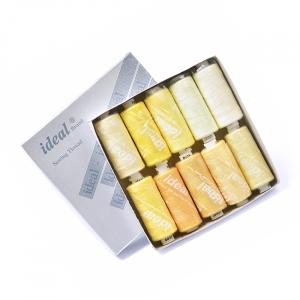 Набор бытовых ниток Ideal 40/2 100% п/э желтые оттенки уп 10шт