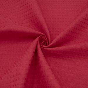 Ткань на отрез вафельное полотно гладкокрашенное 150 см 240 гр/м2 7х7 мм цвет 032 цвет красный