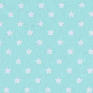 Ткань на отрез поплин 150 см 390/16 Звездочки цвет мята