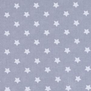 Ткань на отрез поплин 150 см 390/17 Звездочки цвет серый
