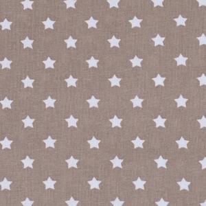 Ткань на отрез поплин 150 см 390/18 Звездочки цвет кофе