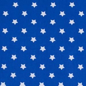 Ткань на отрез поплин 150 см 390/21 Звездочки цвет василек