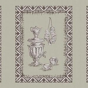 Рогожка 150 см набивная арт 902 Тейково рис 30212 вид 1 Кухонный лен