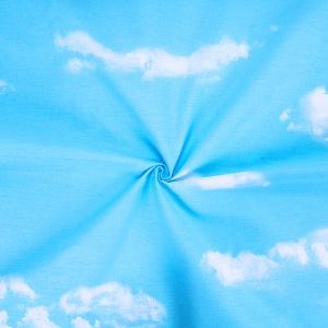 Ткань на отрез бязь 120 гр/м2 220 см Облака компаньон